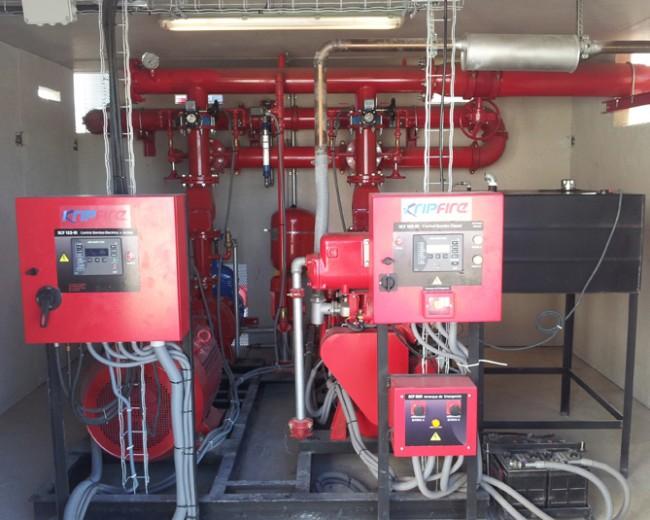ABA 150m3 e hidrantes con conducción de fundición