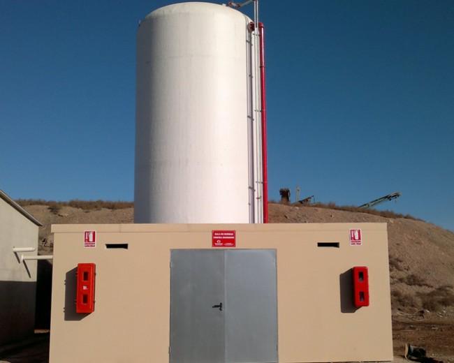 Equipo de bombeo PCI 120 m3 e hidrantes de columna seca