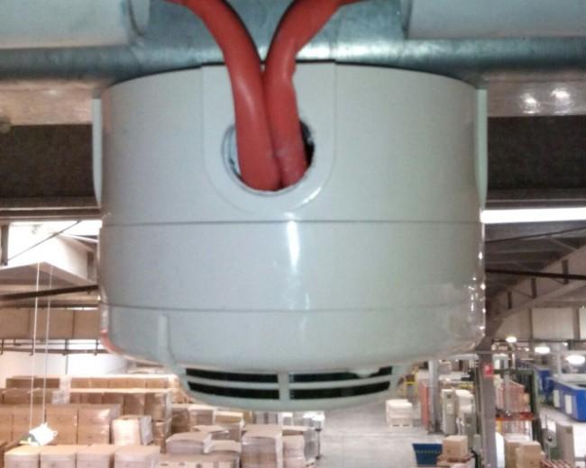 Detección y alarma de incendios en fábrica de cartón de Logroño.