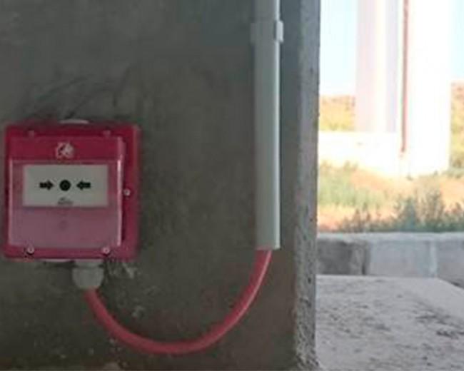 Alarma manual de incendios mediante sistema analógico, planta Teruel.