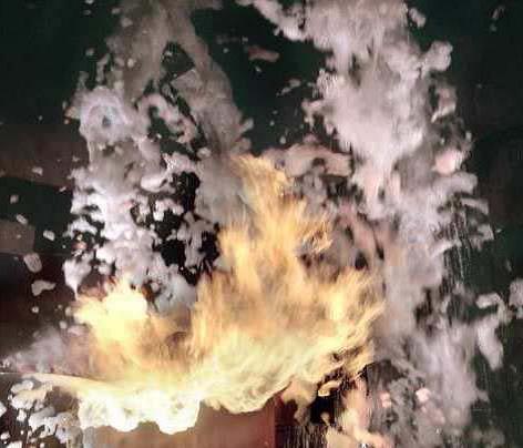 Espumas físicas y químicas para usos contra incendios. Las centrales de espuma.