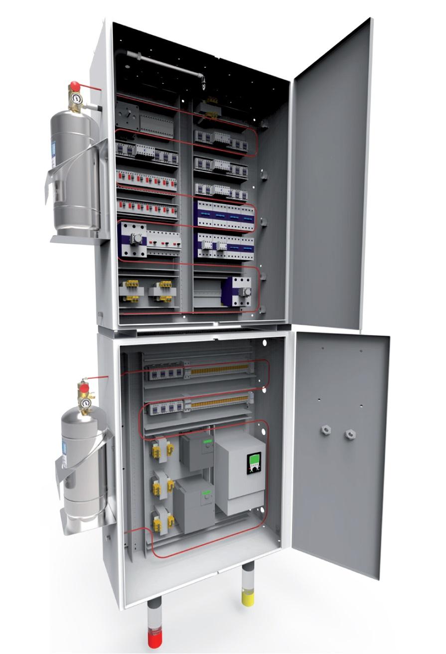 Sistema de detección y extinción para fuegos en pequeñas y localizadas instalaciones