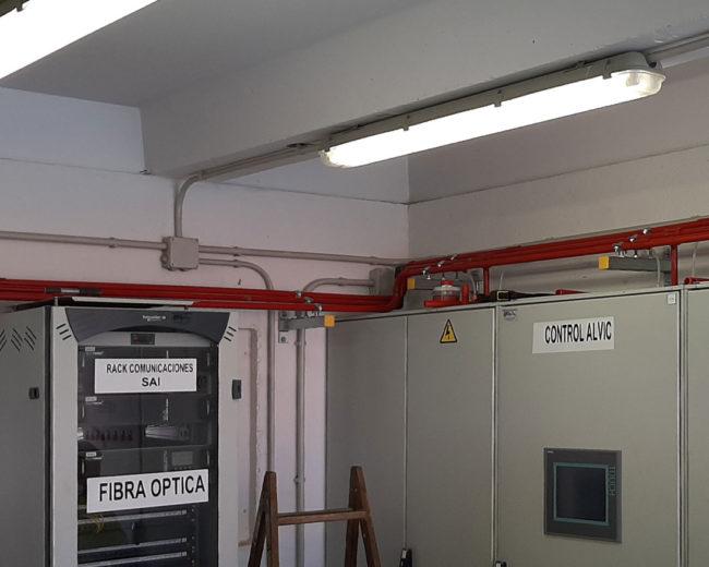 Extinción contra incendios en interior de armarios eléctricos